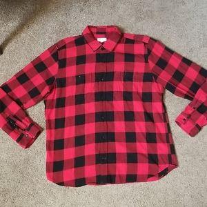 Gap Red plaid button down lumberjack flannel shirt